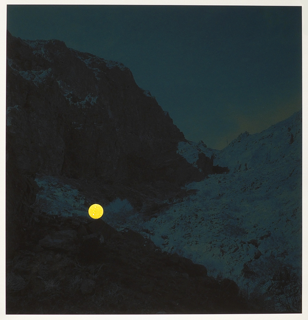 Photograph from the second round of our CSA program | Climber on the ascent, Palo Verde Mountains Wilderness Area, near Blythe, California, 2013 (Yellow Dot) by John Brinton Hogan